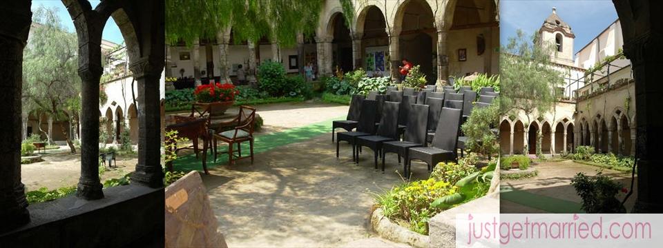 Weddings in sorrento san francesco cloister weddings by just get